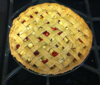 Cranberry Apple Pie Baked