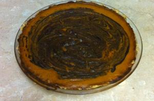 Pumpkin pie baked 1