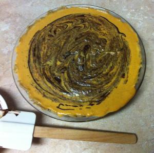 Pumpkin pie choc mixed in