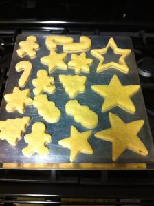 Christmas Sugar Cookies baked shapes
