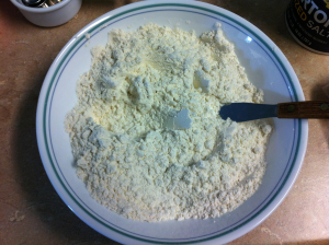 Christmas Sugar Cookies flour, salt, baking powder mix
