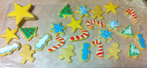 Christmas Sugar Cookies frosted shapes