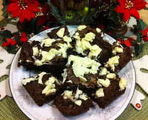 Peppermint White Chocolate Brownies 2