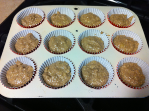 Protein muffin mix in cups