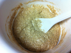 Protein muffin mix together