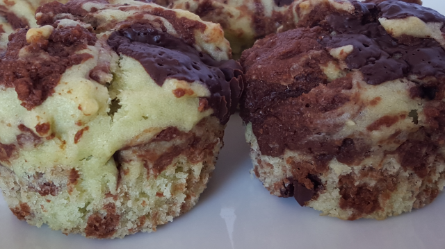 Mint Chocolate Swirl Muffins 3